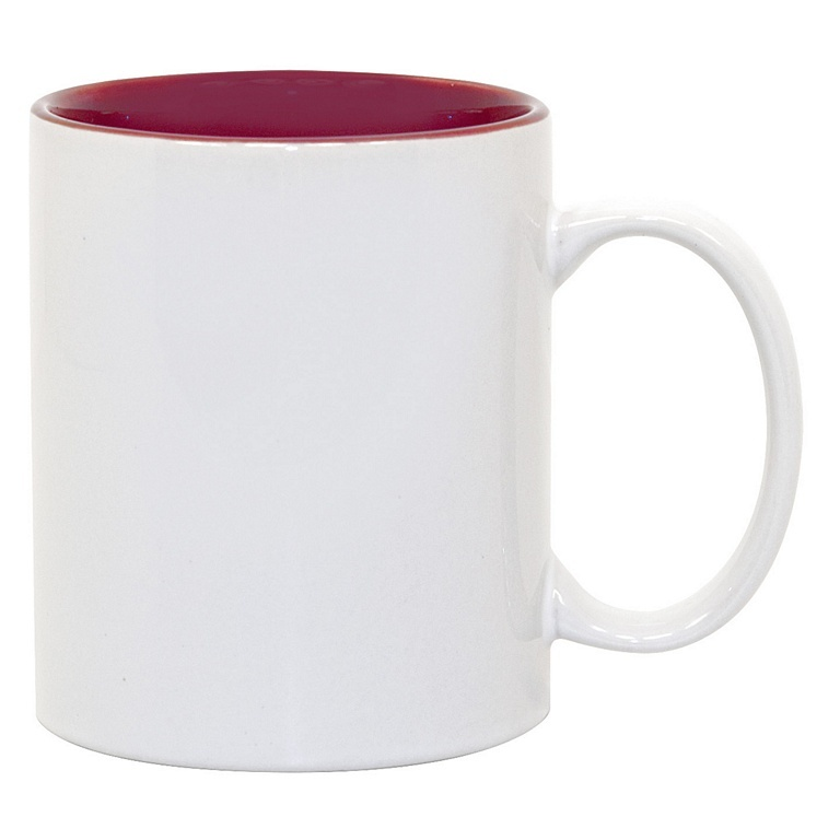 11oz Maroon Photo Mug