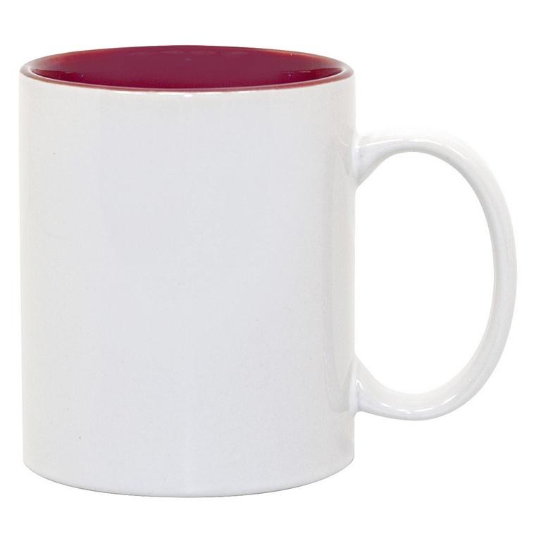 11oz Maroon Photo Mug