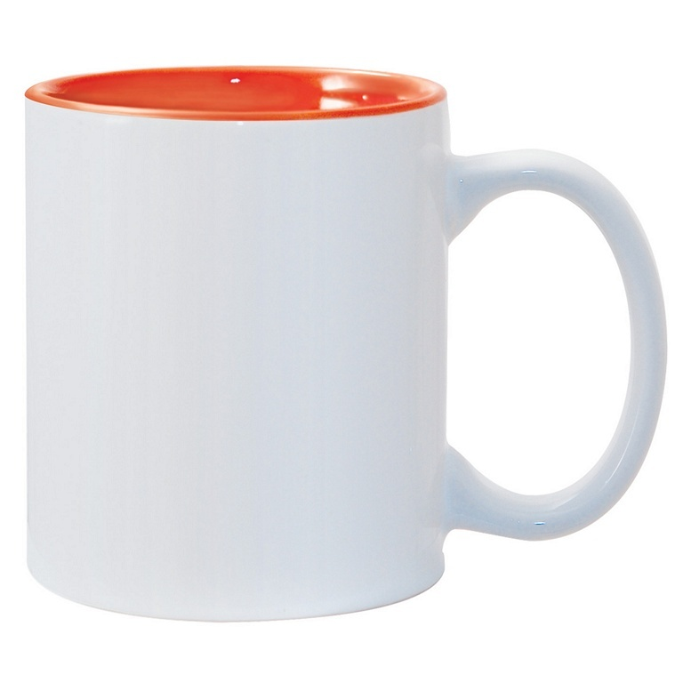 11oz Orange Photo Mug