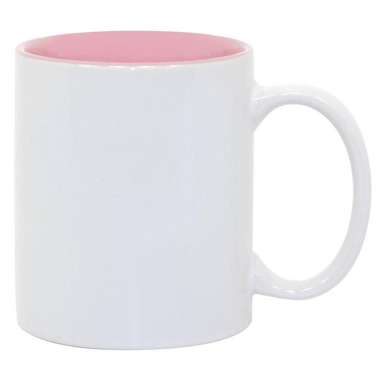 11oz Pink Photo Mug