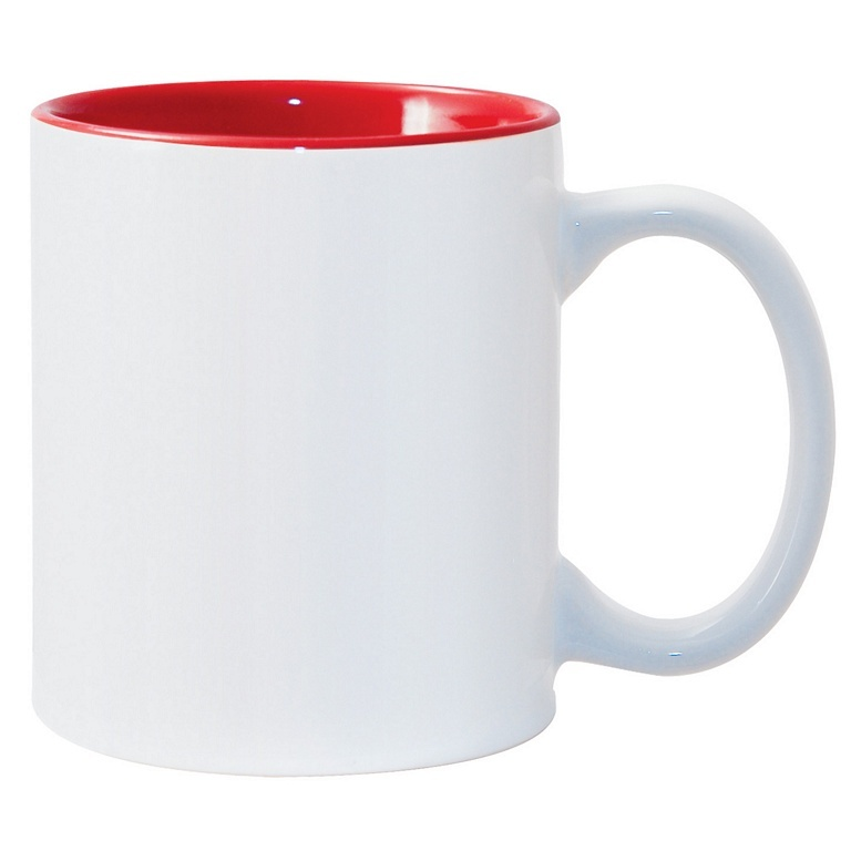 11oz Red Photo Mug