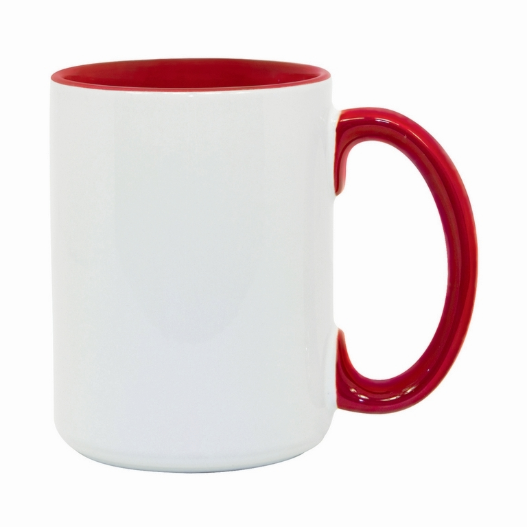 15oz red interior handle Photo Mug