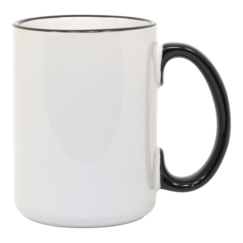 15oz black Photo Mug