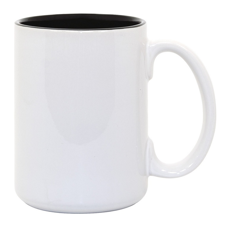 15oz black interior Photo Mug