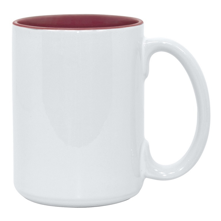 15oz maroon interior Photo Mug