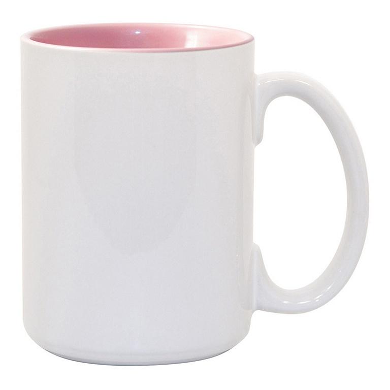 15oz pink interior Photo Mug