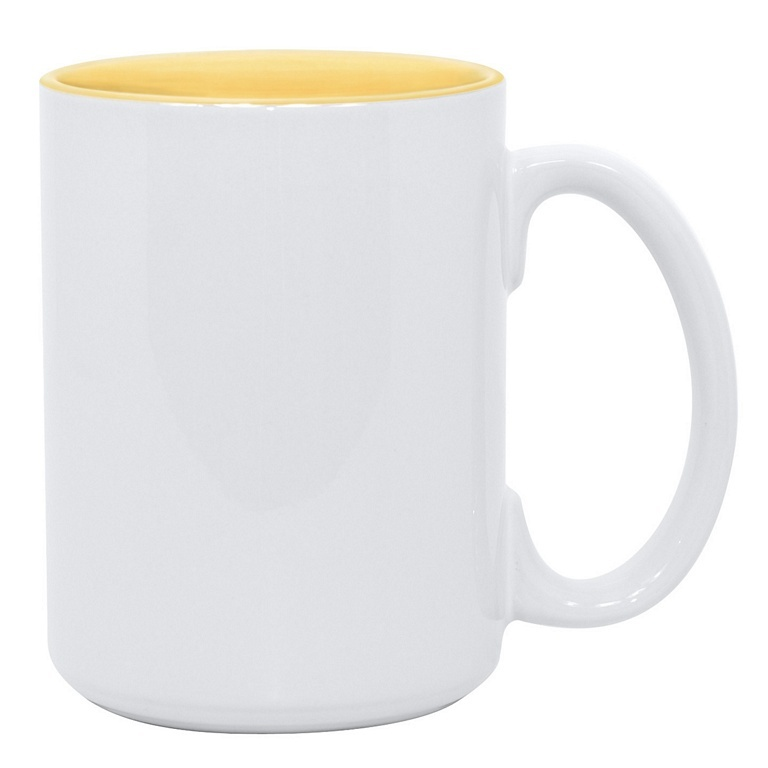 15oz yellow interior Photo Mug
